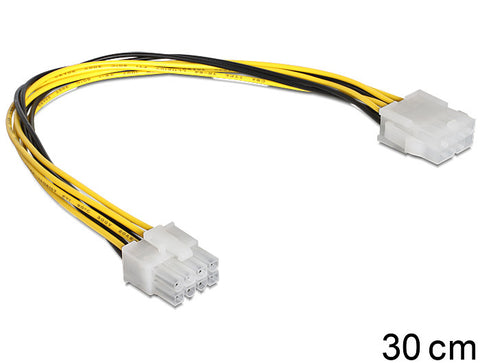 Delock Cable Power 8pin EPS Extension male >female power extension for mainboard - Optiwire