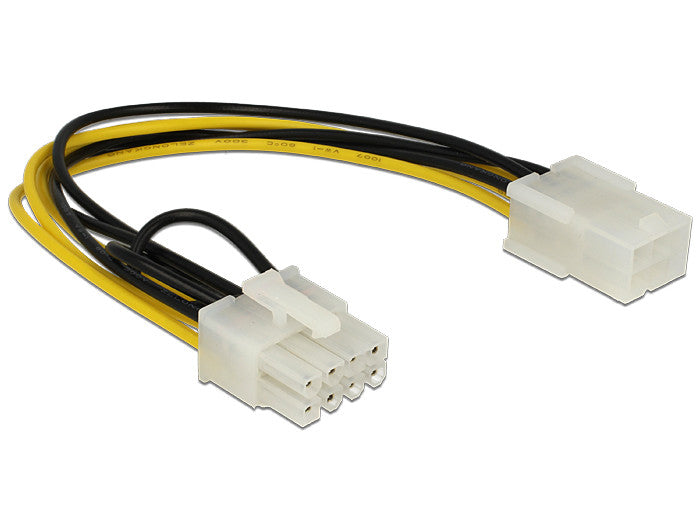 Delock Power Cable PCI Express 6 pin female > 8 pin male 18 AWG 20cm convert 6>8 - Optiwire