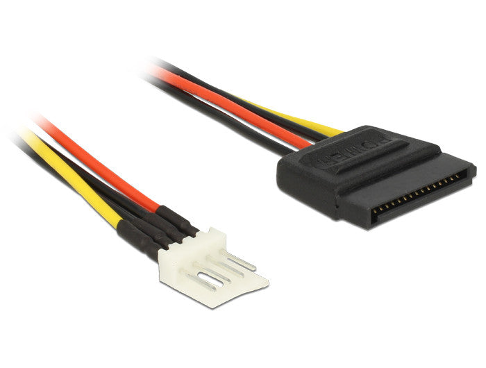 Delock Cable SATA 15pin male > 4pin floppy male 24 cm connect drive>floppy power - Optiwire - 1