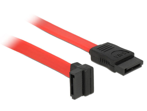 Delock data SATA II cable angled up / straight red up to 3Gbps 22 cm 7 pin - Optiwire.ie