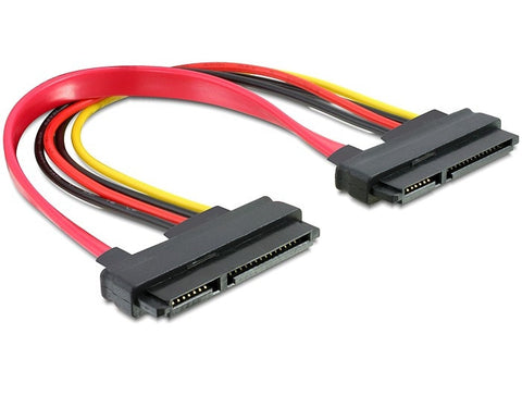 Delock Cable SATA 22pin > 22pin female / female 20cm data & power - Optiwire.ie
