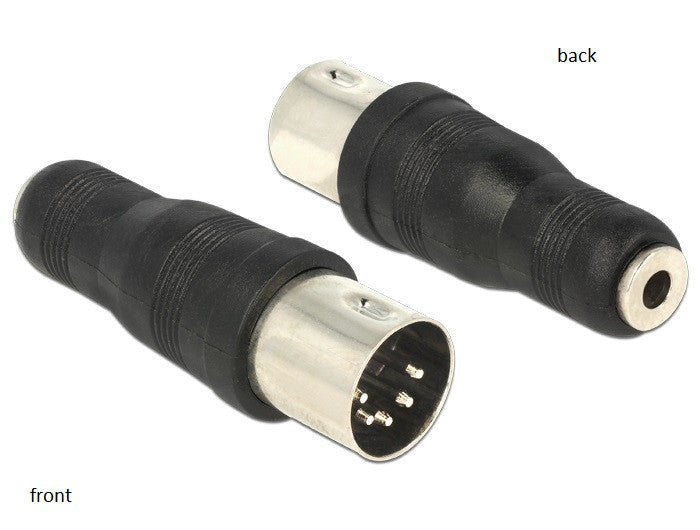 Delock Audio adapter DIN 5pin Male > 3,5mm 3pin Stereo Female nickelplated black - Optiwire.ie