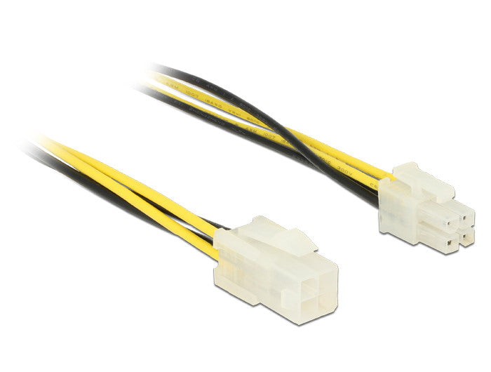 18AWG ATX 4 Pin P4 Male to ATX P4 Female CPU Power Extension Cable 30CM