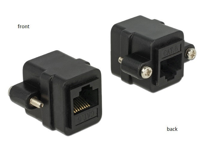 Delock Adapter RJ45 female > RJ45 female panel-mount Cat.6 UTP #4-40 UNC - Optiwire