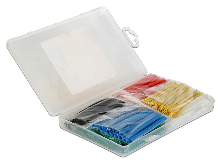 Delock Heat shrink tube box 230 pieces assorted colours 13-1.5 mm diameter range - Optiwire.ie