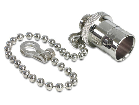 Delock Protective Cap for BNC male port Nickel plated brass/gasket/chain&ring - Optiwire - 1