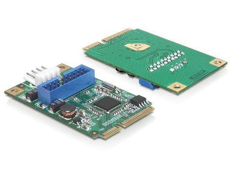 Delock MiniPCIe I/O PCIe full size 1 x 19 pin USB 3.0 Pin Header male - Optiwire - 1