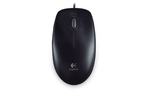 New Logitech B100 optical USB mouse 800 dpi multi OS & easy setup black OEM - Optiwire - 1