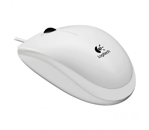 New Logitech B100 optical USB mouse 800 dpi multi OS & easy setup white OEM - Optiwire - 1