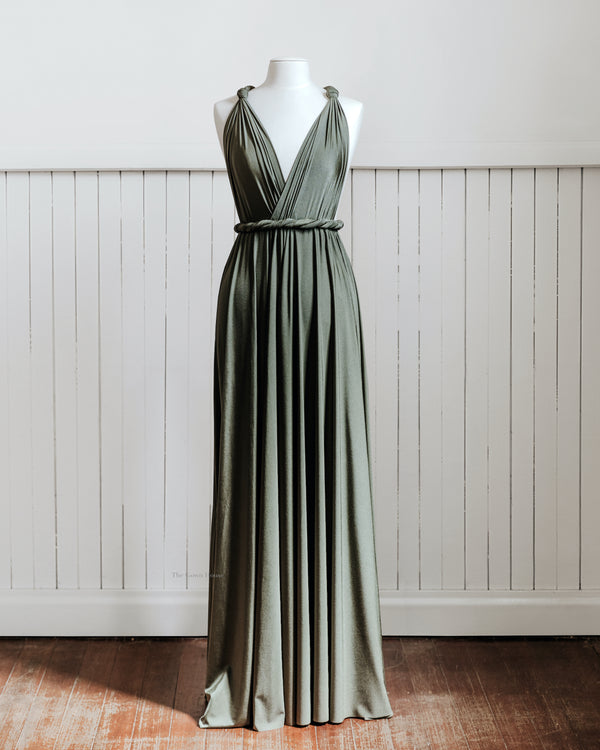 Luxe Olive Infinity Gown PRE ORDER