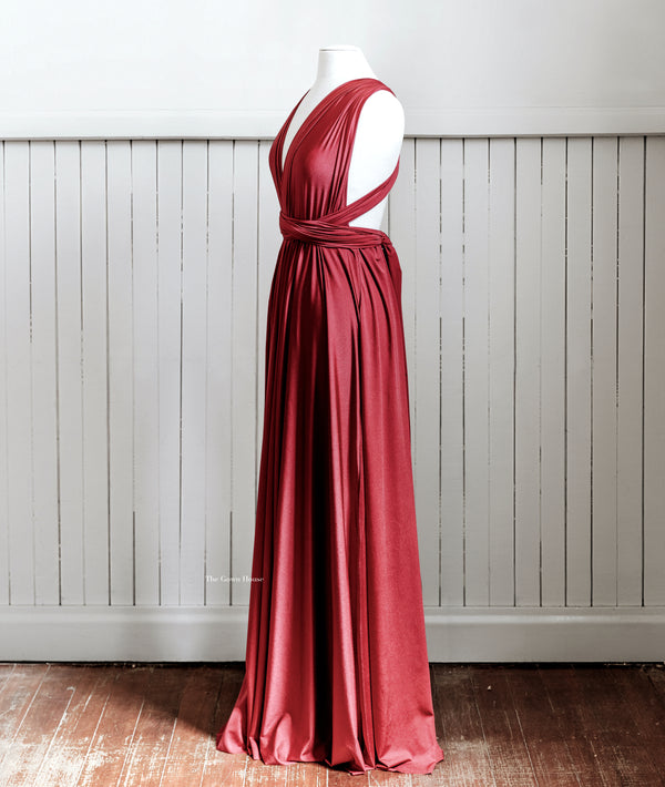 Luxe Wine Infinity Gown PRE ORDER