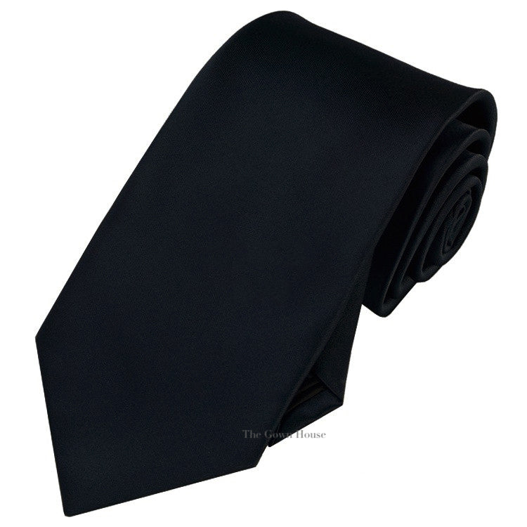 Black Regular Tie