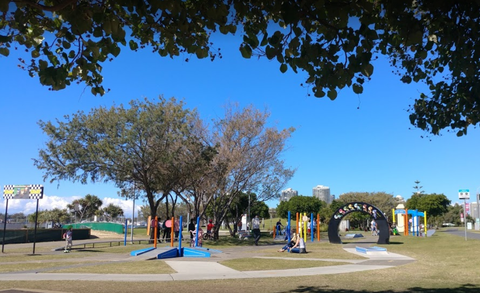 Broadwater Parklands learn to ride balance bike track