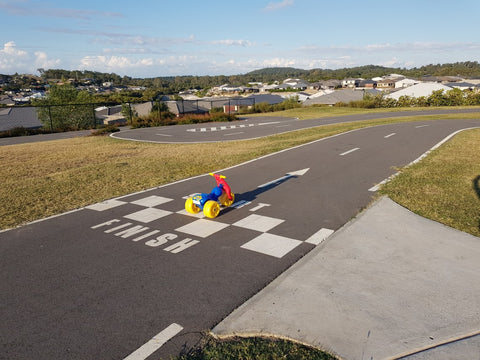 Outlook Park Ormeau Hills scooter racing track