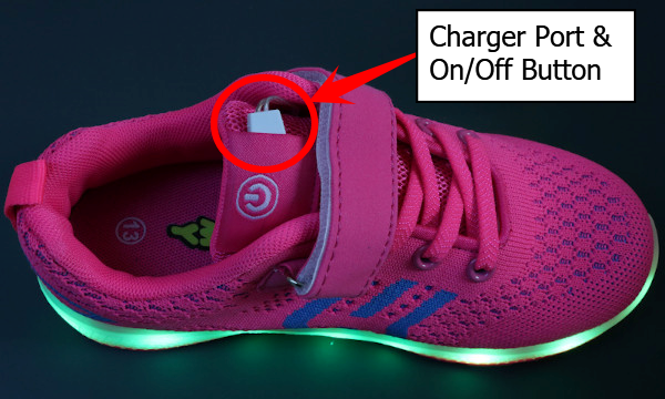Zoomy Shoe Recharge Port