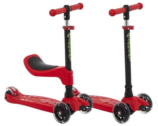 Zoomy 2-in-1 Scooter with and without seat