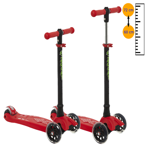 Zoomy Kids 2-in-1 Mini Scooter Adjustable Height Measurement Trans 600x600
