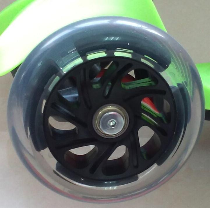 Maxi Scooter Wheels (Complete Set) Scooter Zoomy Leisure Clear / Black 120 mm front, 100 mm rear (3 wheels)