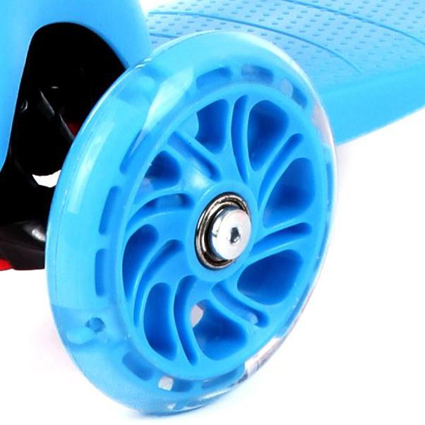 Scooter Wheels (Complete Set) Scooter Zoomy Leisure Blue 110 mm front, 80 mm Rear (3 Wheels)