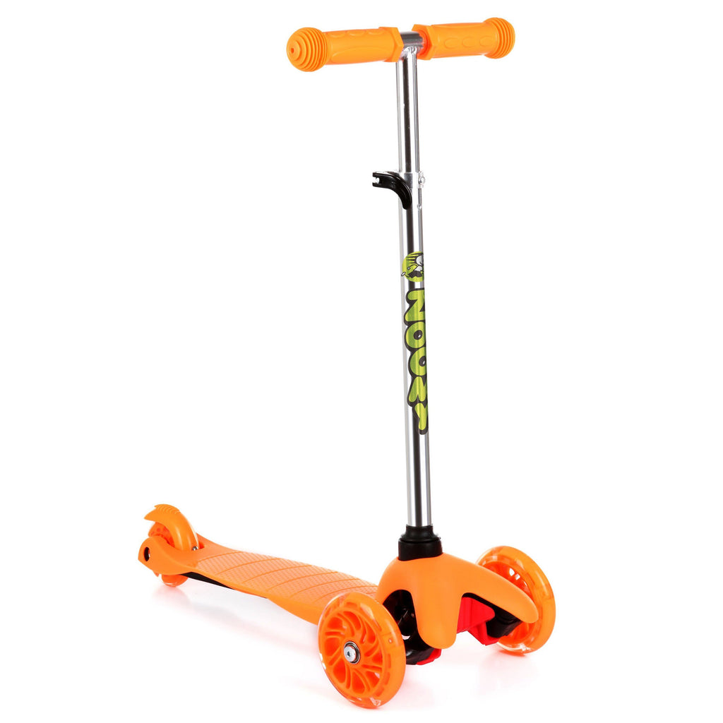Kids Mini Scooter with Light-Up Wheels Scooter Zoomy Leisure Orange