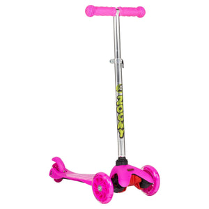 Zoomy Pink Scooter Adjustable Handlebars Front Angle