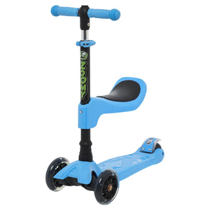Kids 2-in-1 Mini Scooter with Removable Seat Scooter Zoomy Leisure Blue