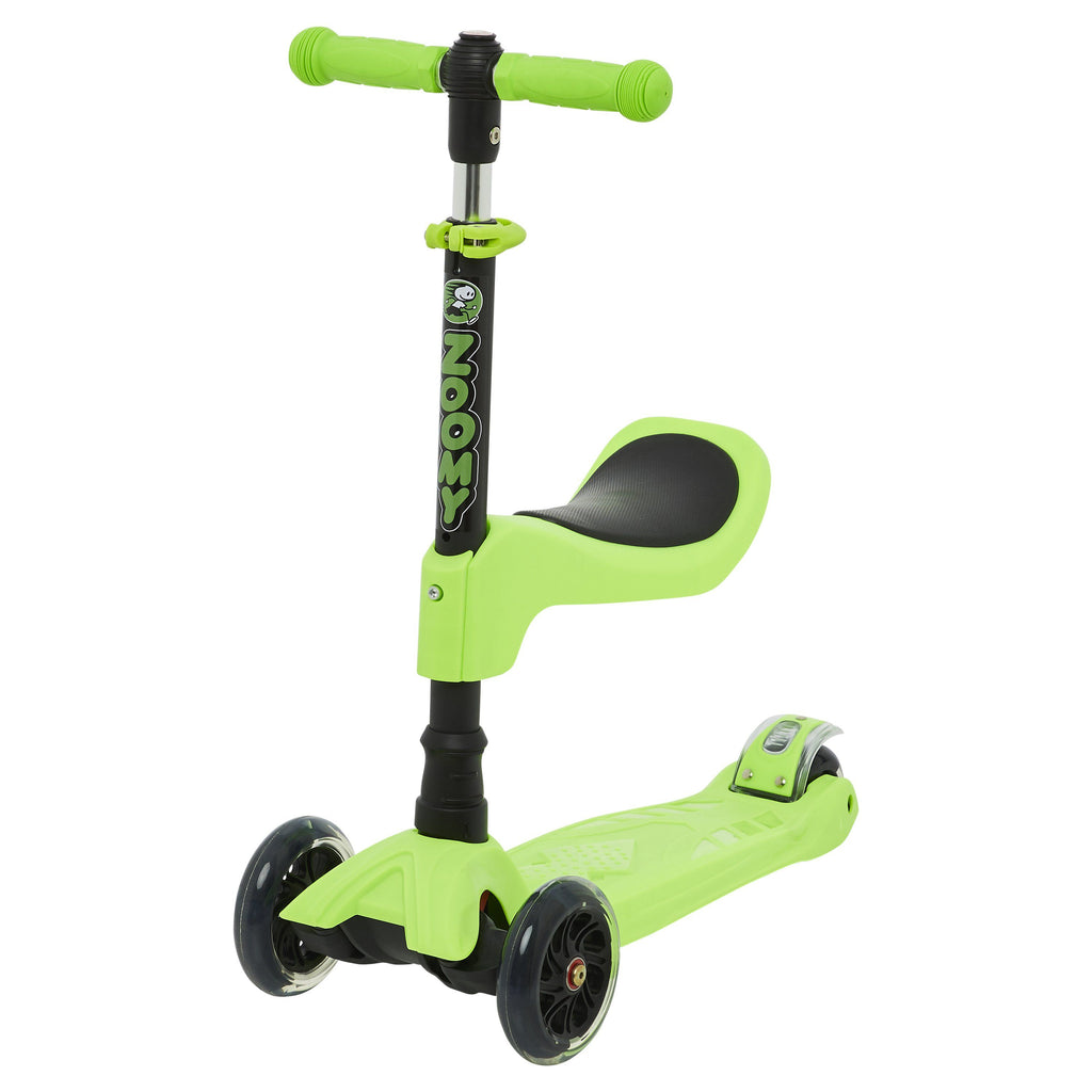 Kids 2-in-1 Mini Scooter with Removable Seat Scooter Zoomy Leisure Green