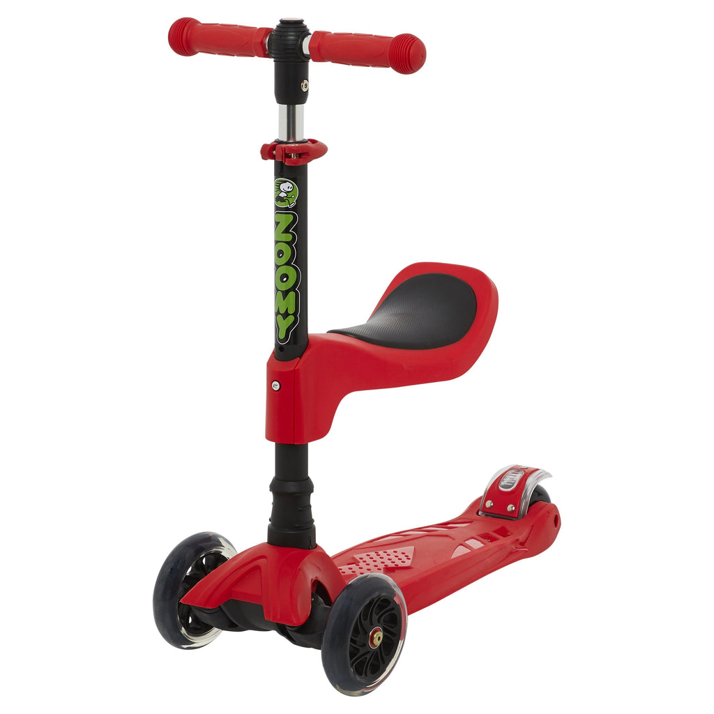 Kids 2-in-1 Mini Scooter with Removable Seat Scooter Zoomy Leisure Red