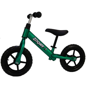 Aluminium Balance Bike for Kids Balance Bike Zoomy Leisure Green