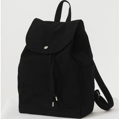 BAGGU drawstring canvas rucksack backpack black