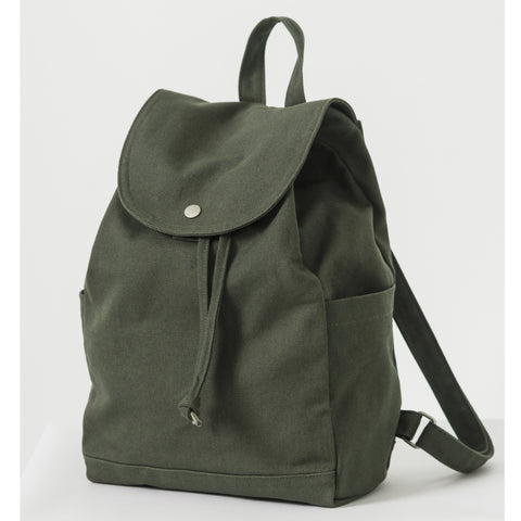 BAGGU Drawstring Backpack in Dark Olive