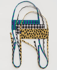 BAGGU Fabric Mask Set - Gingham, Leopard and Stripe