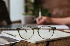 The Campania Editions L+B No.1 Opticals in Crystalline Moss Green