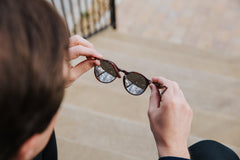 The Campania Editions L+B No.1 Sunglasses in Burnt Umber