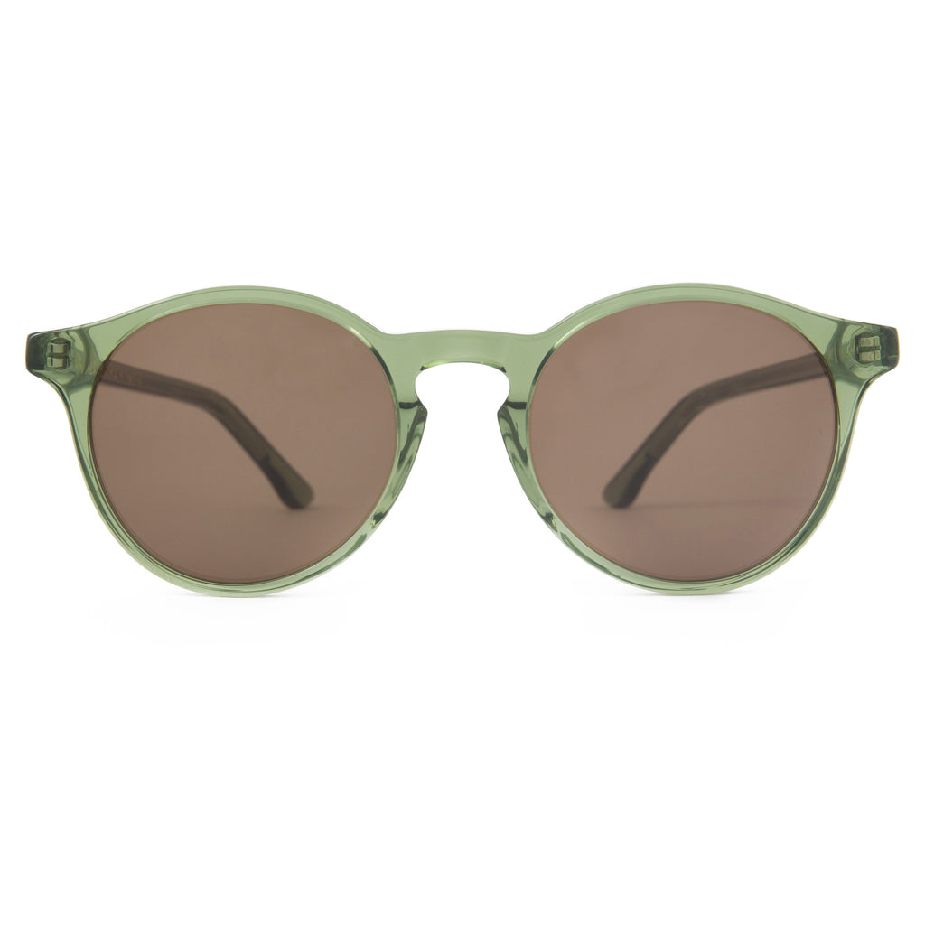 The Campania Editions L+B No.1 Sunglasses in Crystalline Moss Green