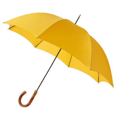 Gentlemen's Umbrella Natural Chestnut with Sunshine Yellow