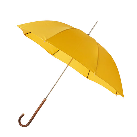 Ladies Umbrella Natural Chestnut with Cornfield Yellow