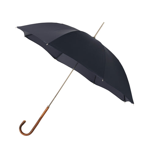 Ladies Umbrella Natural Chestnut with Midnight Navy