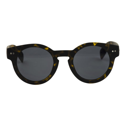 TEST Cardinal Editions Round Sunglasses in Smoked Tortoiseshell