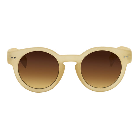 Cardinal Editions Round Sunglasses in Nude
