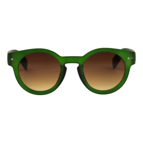 Cardinal Editions Round Sunglasses in Basil Green