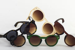 Cardinal Editions Round Sunglasses in Smoked Tortoiseshell