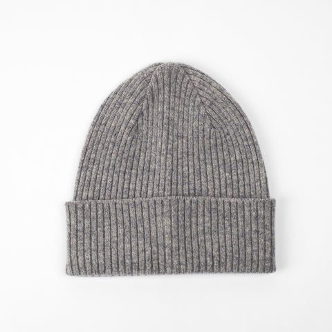 Lead + Ball Ribbed Hat in Stone Grey