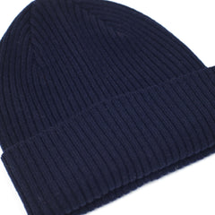Lead + Ball Ribbed Hat in True Navy