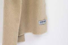 Lead + Ball Ribbed Scarf in Oatmeal