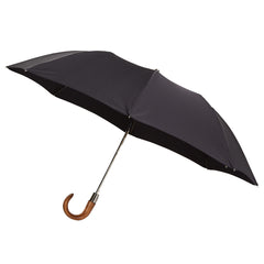 Telescopic Umbrella Smooth Maple with Pitch Black