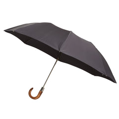 Telescopic Umbrella Smooth Maple with Slate Grey
