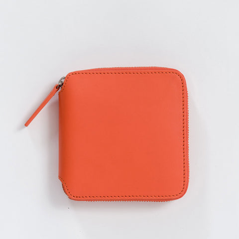 BAGGU Square Wallet in Warm Red