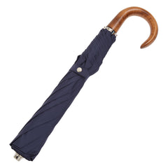 Telescopic Umbrella Smooth Maple with Midnight Navy