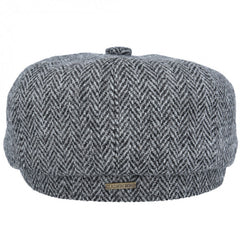 Harris Tweed Baker Boy in Light Grey